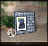 Personalized Dog Picture Frame Paw Prints on My Heart | MemoryScapes - Memory Scapes