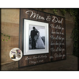 Mom and Dad Thank You ~ Rustic Wedding ~ Gift For Parents  ~ From Bride and Groom ~ Mother of the Bride ~ Personalized Wedding Frame | #70 - MemoryScapes Personalized and Customized Picture Frame