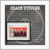 Wrestling Coach Gift , Coach Appreciation , Custom Coach Picture Frame , Coach Thank You , End Of Season Gift , Personalized Team Frame - MemoryScapes Personalized and Customized Picture Frame