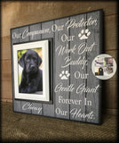 Personalized Pet Picture Frame | Personalized Pet Sign | Dog Frame | Personalized Dog Picture Frame | Furbaby | Custom Frame | #74 - MemoryScapes Personalized and Customized Picture Frame