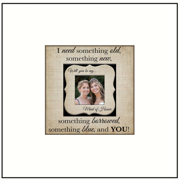 Will You Be My Maid of Honor ~ Matron of Honor Present ~ Bridesmaid Picture Frame ~ Bridal Party Gifts ~ Will You Be My Maid of Honor - MemoryScapes Personalized and Customized Picture Frame