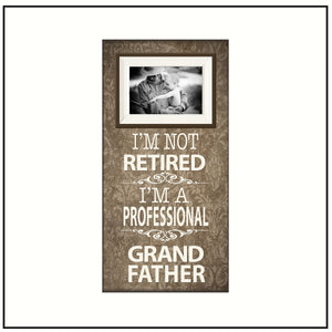 Retirement Party Gifts for Men ~ Coworker Retirement Gifts ~ Retired Grandfather ~ Picture Frame For Grandpa ~ Personalized Grandfather Gift - MemoryScapes Personalized and Customized Picture Frame