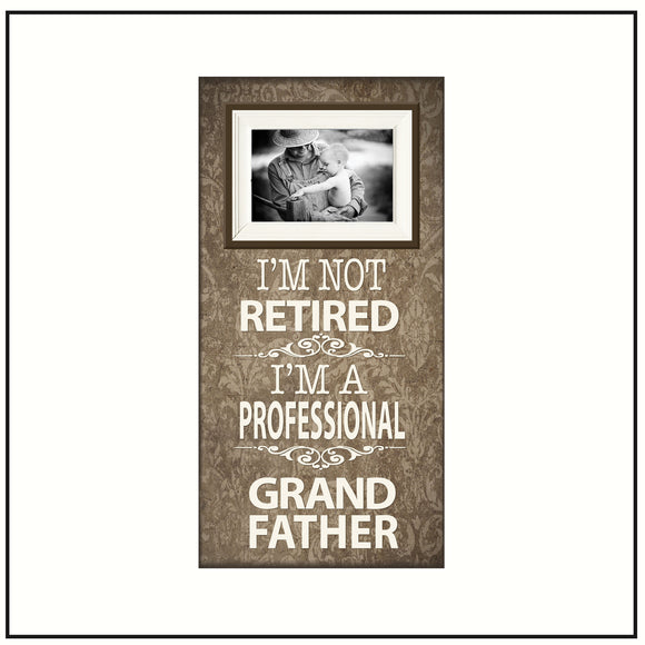 Retirement Party Gifts for Men ~ Coworker Retirement Gifts ~ Retired Grandfather ~ Picture Frame For Grandpa ~ Personalized Grandfather Gift - Memory Scapes