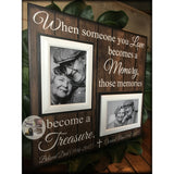 Loss of Both Parents Loss of Two Memorial Photo Frame  | MemoryScapes - MemoryScapes Personalized and Customized Picture Frame