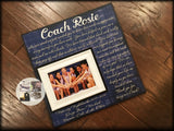 Custom Quote Print , Coach Appreciation , Personalized Picture Frame , Coach Thank You , End Of Season Gift , Personalized Team Frame - Memory Scapes