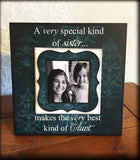 Sister Pregnancy Reveal ~ Sonogram Photo ~  Picture Frame ~ New Aunt To Be ~ Reveal to Sister ~ New Baby | #26 - MemoryScapes Personalized and Customized Picture Frame