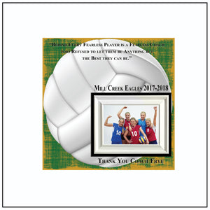 Volleyball Coach Gift , Coach Appreciation , Custom Coach Picture Frame , Coach Thank You , End Of Season Gift , Personalized Team Frame - Memory Scapes