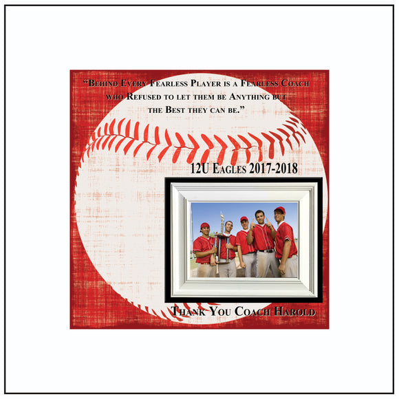 Baseball Coach Gift , Coach Appreciation , Custom Coach Picture Frame , Coach Thank You , End Of Season Gift , Personalized Team Frame - Memory Scapes