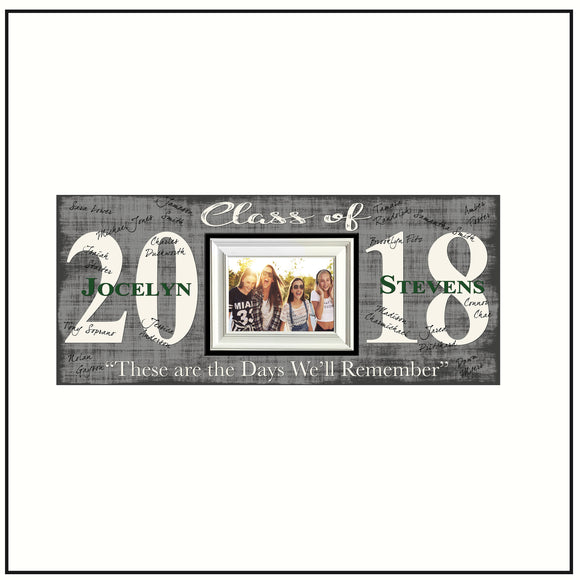 2018 Graduation Guest Book Picture Frame  Graduation Party Signing Board ~ Senoir Signature Gift ~ Open House Gift - Memory Scapes