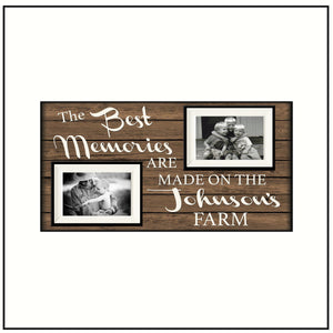 Housewarming Gift ~ Farmhouse Decor~ The Best Memories Are...~ Family Name Frame ~ Farm House Gift ~ New Home Gift ~ - MemoryScapes Personalized and Customized Picture Frame