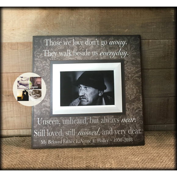 Sympathy Gift Ideas for Loss of Father Picture Frame | MemoryScapes - Memory Scapes