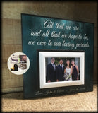 Wedding Photo Frame Personalised For Parents Gift | MemoryScapes - MemoryScapes Personalized and Customized Picture Frame