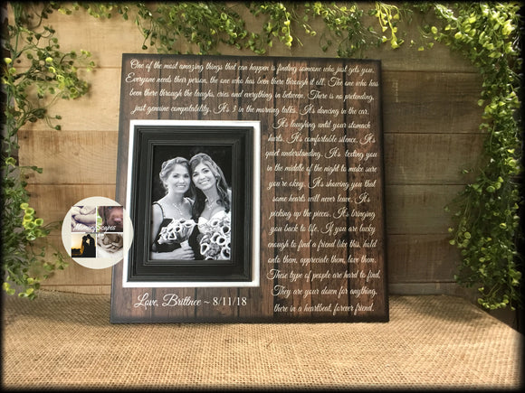 Bridesmaid Gifts | Bridesmaid Proposal | Maid Of Honor Gift | Bridesmaid Thank You | Personalized Wedding Picture Frame | Forever Friends - Memory Scapes