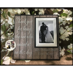 Wedding Officiant Gift ~ Custom Wedding Frame ~ Thank You Gift ~ Thank You For Marrying Us ~The One Who United Us ~Personalized Wedding Gift - MemoryScapes Personalized and Customized Picture Frame
