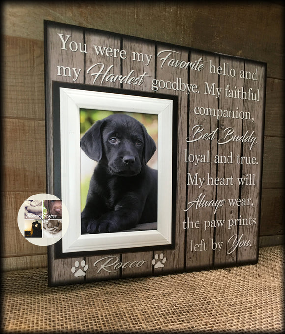 Personalized Dog Picture Frame | Personalized Dog Sign | Pet Frame | Personalized Pet Picture Frame | Furbaby | Custom Frame | #72 - Memory Scapes