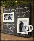 WEDDING OFFICIANT GIFT,  Free Design Proof and Personalization, Thank You for being the One , Gave Us Our Happily Ever After-#52 - Memory Scapes