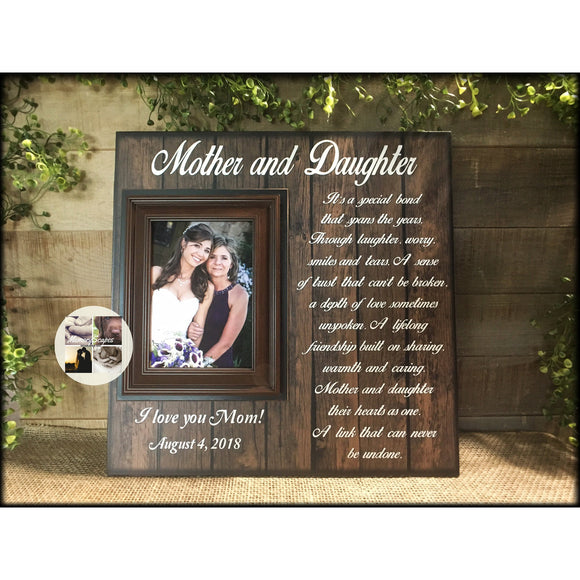 Mother of the Bride Gift Ideas | Mother Daughter | Wedding Photo Picture Frame | Gift From Daughter | Personalized Wedding | Rustic Wedding - Memory Scapes