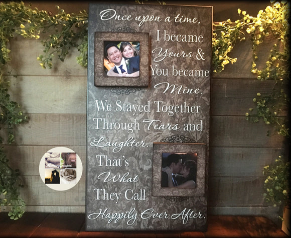 Then and Now Anniversary Frame | 50th Anniversary Gift | 40th Anniversary | 30th Anniversary Present | 25th Anniversary | 20th Anniversary | 15 Year Anniversary - MemoryScapes Personalized and Customized Picture Frame