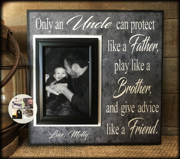Gift to Uncle | Uncle Gifts | Best Uncle Personalized Gifts | Uncle Gifts for Birthday | Uncle Gifts for Wedding | Uncle Picture Frame | #5 - MemoryScapes Personalized and Customized Picture Frame