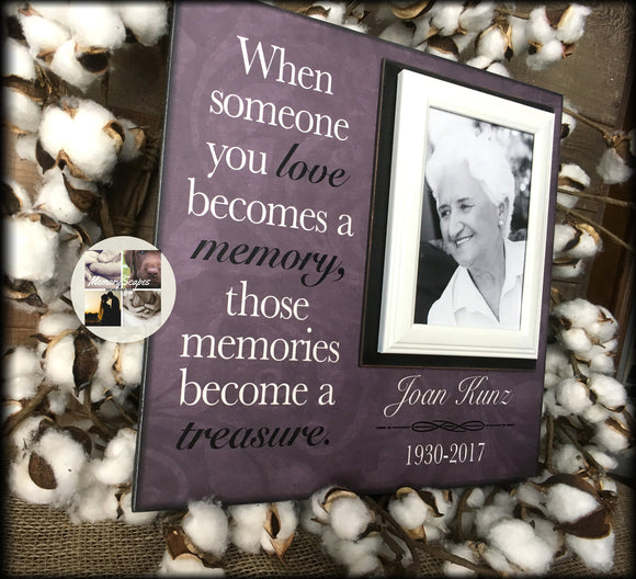 Loss of Mother In Memory Picture Frame For Daughter | MemoryScapes - Memory Scapes