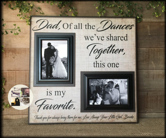 Rustic Wedding | Father of the Bride | Personalized Wedding Thank You | Gift For Dad | Fall Wedding | Of All The Walks  | MemoryScapes | #4 - MemoryScapes Personalized and Customized Picture Frame