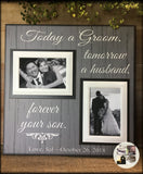 From Groom To Parents Thank You Gift~  Father of the Groom ~ Mother of the Groom~ Mother Son Wedding ~ Father Son Present ~ Forever Your Son - MemoryScapes Personalized and Customized Picture Frame