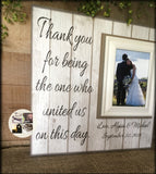 Rustic Wedding Officiant Gift | Officiant Personalized Picture Frame | Thank You For Uniting Us | For Marrying Us | Farmhouse Style - MemoryScapes Personalized and Customized Picture Frame