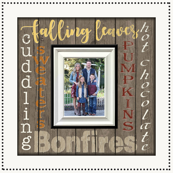 Fall Home Decor - Fall Family Photo - Fall Y'all - Fall Signs - Rustic home Decor - Rustic Country - Modern Farmhouse ~ MemoryScapes Frames - MemoryScapes Personalized and Customized Picture Frame