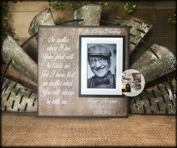 In Loving Memory Picture Frame Gift For 4x6 Photo | MemoryScapes - MemoryScapes Personalized and Customized Picture Frame