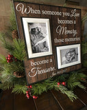 Loss of Husband Frame Condolence Gift Idea | MemoryScapes - MemoryScapes Personalized and Customized Picture Frame