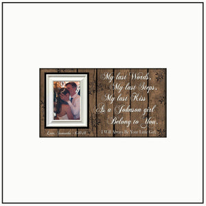 Wedding Photo Christmas Present ~ Father of the Bride Gift ~ My Last Words ~ Personalized Frames ~ Custom Frame for Dad ~ Christmas for Dad - MemoryScapes Personalized and Customized Picture Frame