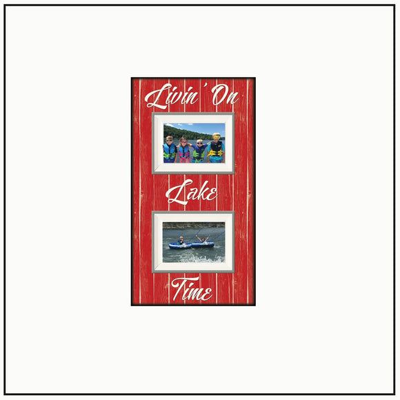 Lake House Gift ~ Lake Home Decor~ Livin On Lake Time ~ Lake Thank You Gift ~ Lake House Decor~ Boating Camping - Memory Scapes
