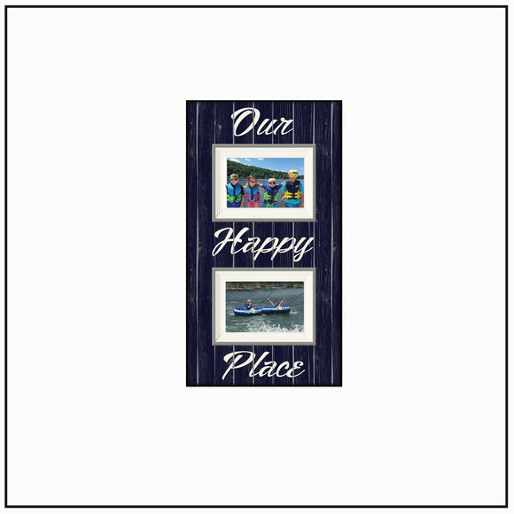 Lake House Gift ~ Lake Home Decor~ Our Happy Place ~ Lake Thank You Gift ~ Lake House Decor~ Boating Camping - MemoryScapes Personalized and Customized Picture Frame