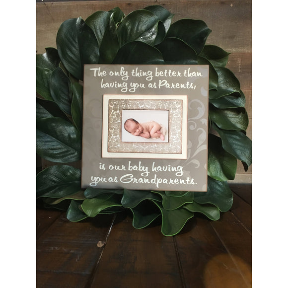 READY TO SHIP!!! Pregnancy Reveal Idea ~ Sonogram Photo ~ Ultrasound Picture Frame ~Baby Reveal Idea to Grandparents to be~ Reveal To Family - Memory Scapes