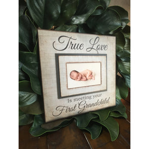 READY TO SHIP!!! New Grandparent~ Wood Picture Frame ~ Gift to Grandparents to be~ Baby Announcement ~ Magnetic Frames ~ Baby Photo Frame - MemoryScapes Personalized and Customized Picture Frame