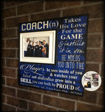 Basketball Coach Gift , Basketball Banquet Gift , Custom Coach Picture Frame , Coach Thank You , End Of Season Gift ,Personalized Team Frame - MemoryScapes Personalized and Customized Picture Frame
