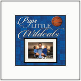 Personalized Frames ~ Picture Frame For Dad~ Sports Fanatic Dad ~ Pops Little Wildcats ~ Personalized Sports Gift ~ Basketball Fan ~ Custom - Memory Scapes
