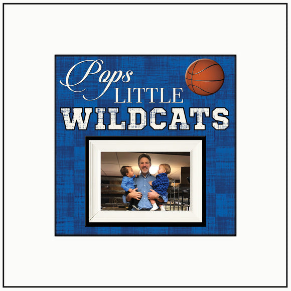 Personalized Frames ~ Picture Frame For Dad~ Sports Fanatic Dad ~ Pops Little Wildcats ~ Personalized Sports Gift ~ Basketball Fan ~ Custom - MemoryScapes Personalized and Customized Picture Frame