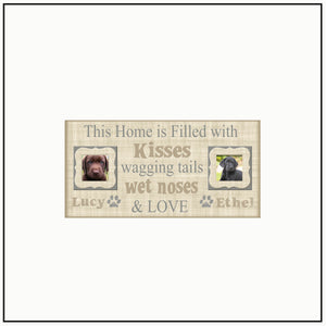 Pet Love Frame | This Home is Filled With | Dog Lover |Christmas Gift for Pet Lovers | Custom Pet Frames | Personalized Pet Frame - MemoryScapes Personalized and Customized Picture Frame