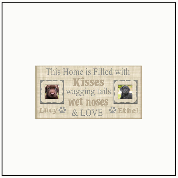 Pet Love Frame | This Home is Filled With | Dog Lover |Christmas Gift for Pet Lovers | Custom Pet Frames | Personalized Pet Frame - Memory Scapes