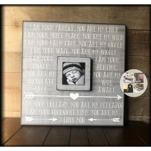 Picture Frame for New Baby Photos | New Baby Picture Frame | New Baby Hospital Gift | Gift Box For New Mom Item Idea | New Baby Gifts 2017 - MemoryScapes Personalized and Customized Picture Frame