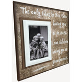 Gift for Grandparents ~ Parent Appreciation ~ Grandma & Grandpa Picture Frame ~ The Only Thing Better ~ Than Having You As Parents - MemoryScapes Personalized and Customized Picture Frame