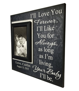Wedding Frame for Mom ~ Wedding Thank You Gift From Groom ~ Gift to Mother Of The Bride Frame ~ I'll Love You Forever...Your Baby I'll Be ~ - Memory Scapes