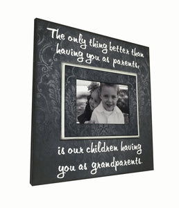 "Grandparents Photo Frame Gift  ""The only thing better than having you as parents..."" Grandchildren Personalized Picture Frame From Children - MemoryScapes Personalized and Customized Picture Frame"