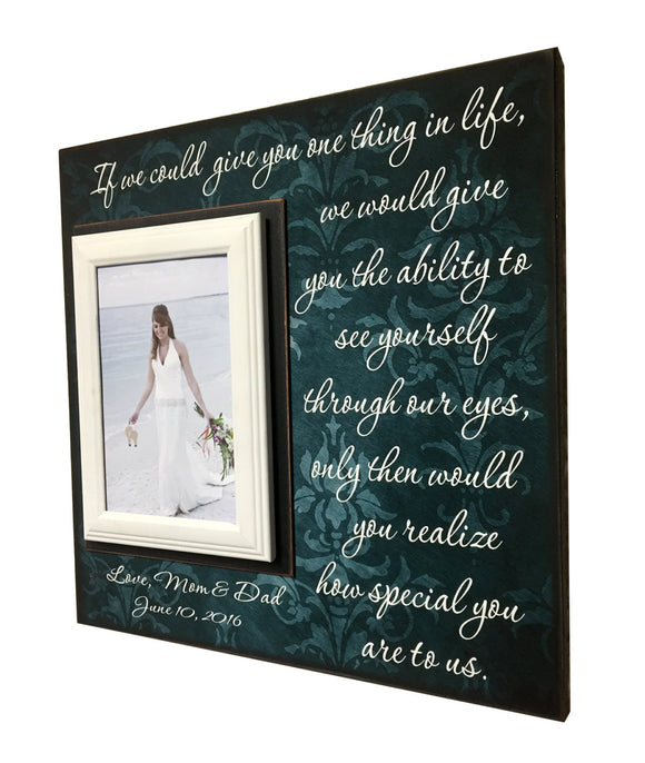 Gift to Bride ~ Gift to Groom ~ From Mom & Dad Personalized Gift ~ Custom Newlywed Bride Gift ~ If we could give you one thing in Life... - Memory Scapes