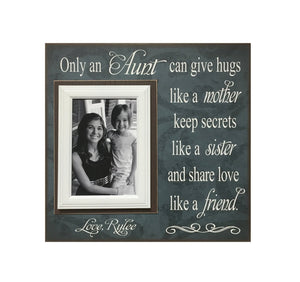 Gift to Aunt ~ Personalized Frame from Niece ~ New Aunt Gift Ideas ~ Best Aunt Ever Gifts ~ Aunt Birthday Gift ~ Auntie Is My Bestie - Memory Scapes