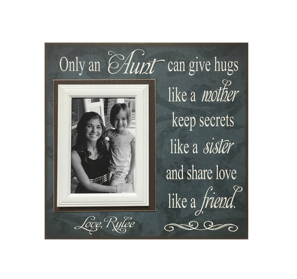 Gift to Aunt ~ Personalized Frame from Niece ~ New Aunt Gift Ideas ~ Best Aunt Ever Gifts ~ Aunt Birthday Gift ~ Auntie Is My Bestie - MemoryScapes Personalized and Customized Picture Frame