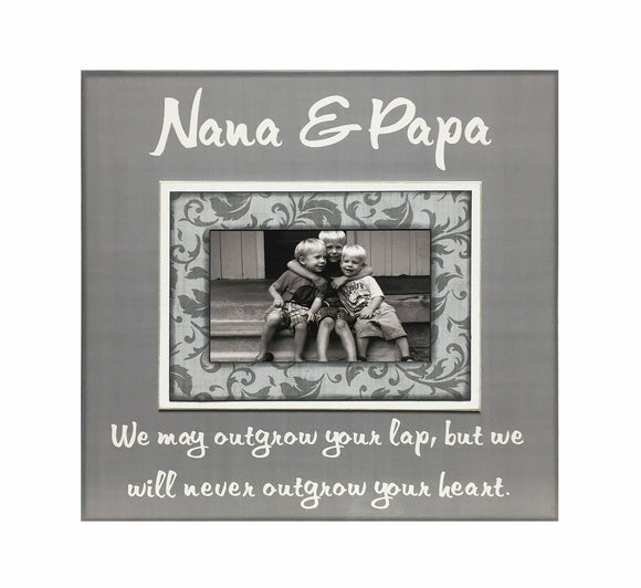 Grandparent Xmas Gift from Grandchildren ~ Picture Frame For Nana & Papa ~ Personalized Grandmother ~ Grandfather Mimi ~ Papaw ~ Customized - MemoryScapes Personalized and Customized Picture Frame