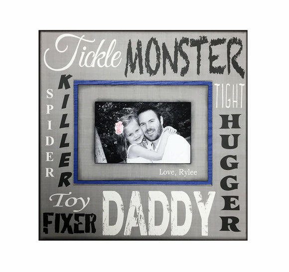 UNIQUE Father's Day Gift for Daddy~ Custom Picture Frame for Dad ~ Personalized Frame from Son ~ Gift From Daughter ~ Daddy Gift ~ - MemoryScapes Personalized and Customized Picture Frame