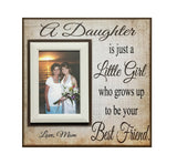 Mother Daughter Personalized Picture Frame ~ Photo Frame to Mother ~ Birthday Gift For Mom - MemoryScapes Personalized and Customized Picture Frame